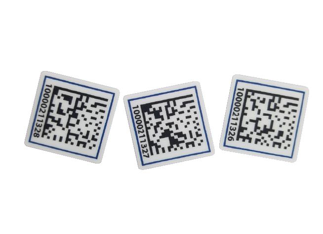 Data matrix Bar code labels