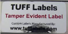 Void Tamper Evident label leaves the word void in the adhesive if removal is attempted.
