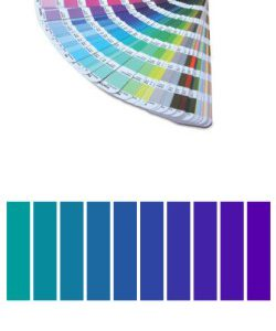Using a swatch book and making the perfect color match.