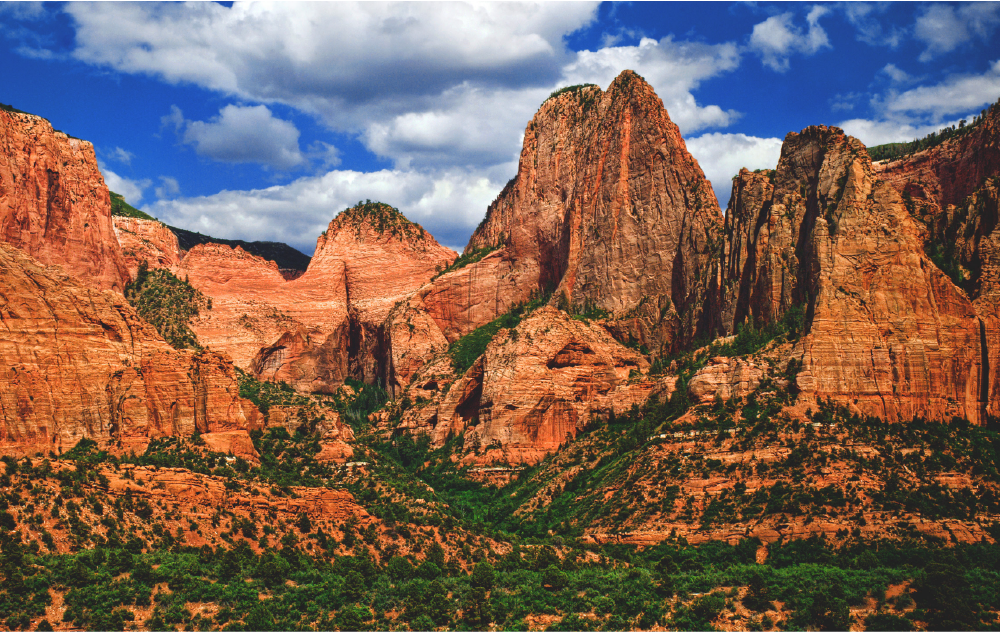 The Scenic Red Cliffs Near TUFFLabels Converting Facility