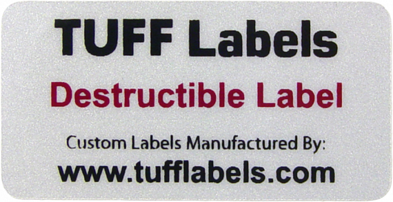 Destructible Tamper evident Label